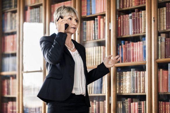 Woman talking in phone