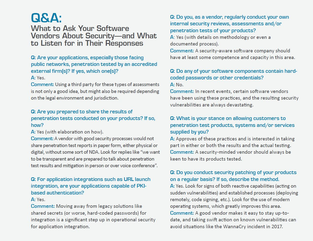 Security in requests for proposals in healthcare IT: What to ask your software vendors about security